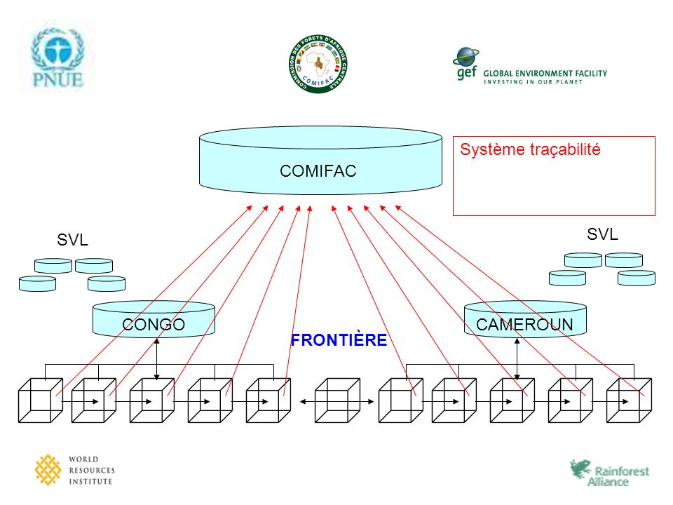 COMIFAC Système traçabilité. Système Traçabilité Système de gestion Tableau de Bord SVL. CONGO.