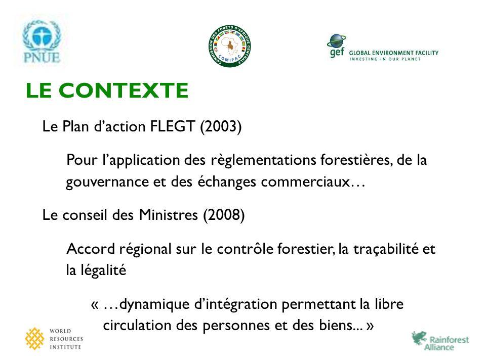 LE CONTEXTE Le Plan d'action FLEGT (2003)
