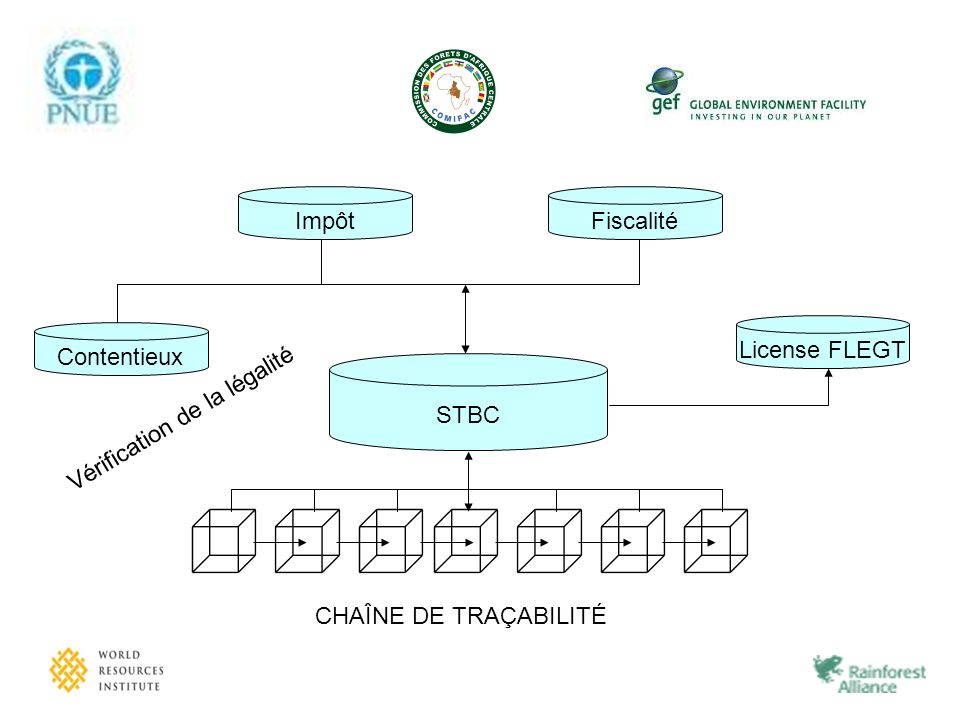 Fiscalité Impôt Contentieux Vérification de la légalité License FLEGT STBC CHAÎNE DE TRAÇABILITÉ