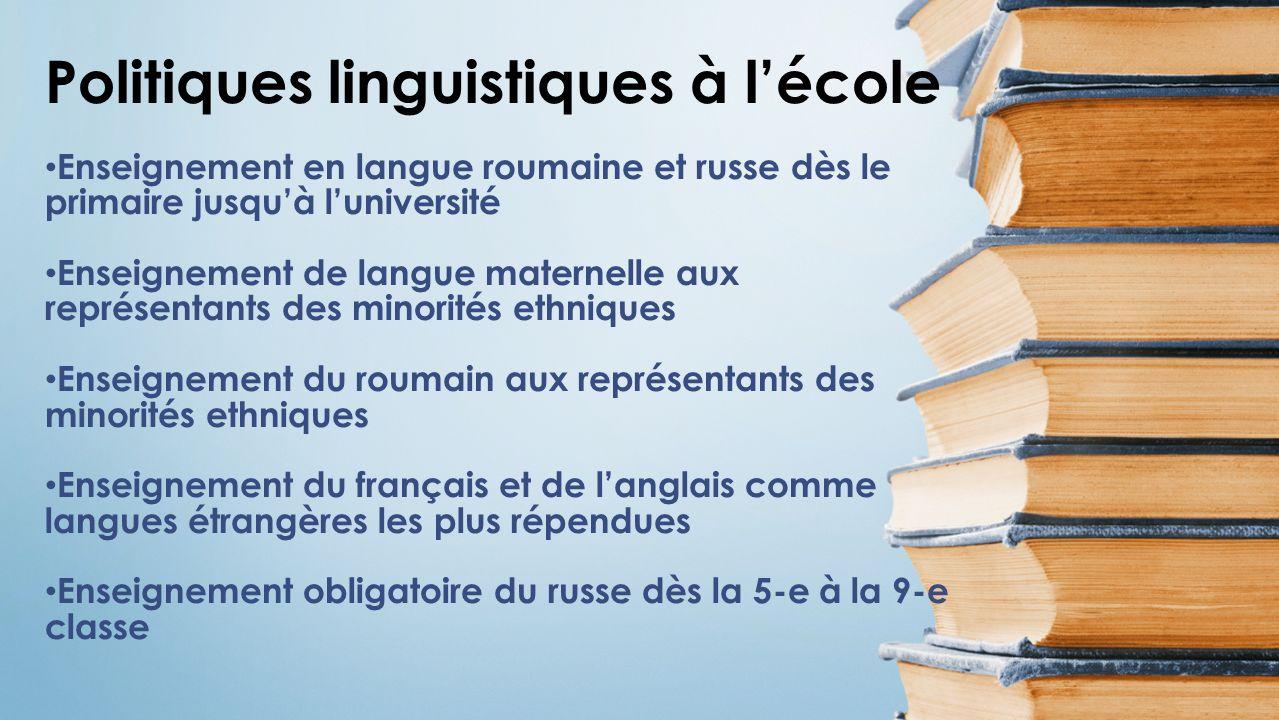 Politiques linguistiques à l'école