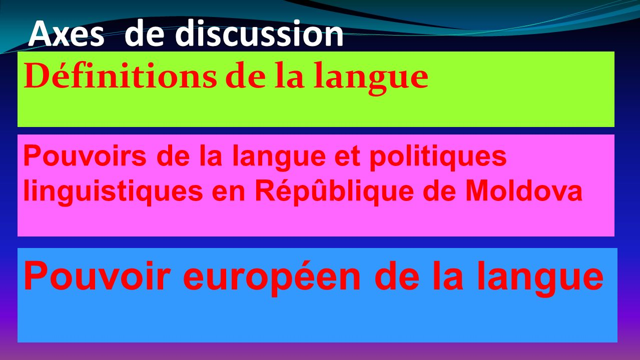 Pouvoir européen de la langue