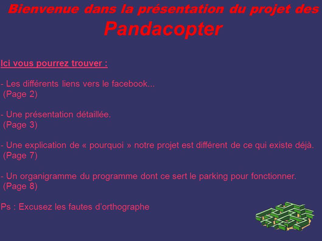 Bienvenue dans la présentation du projet des Pandacopter