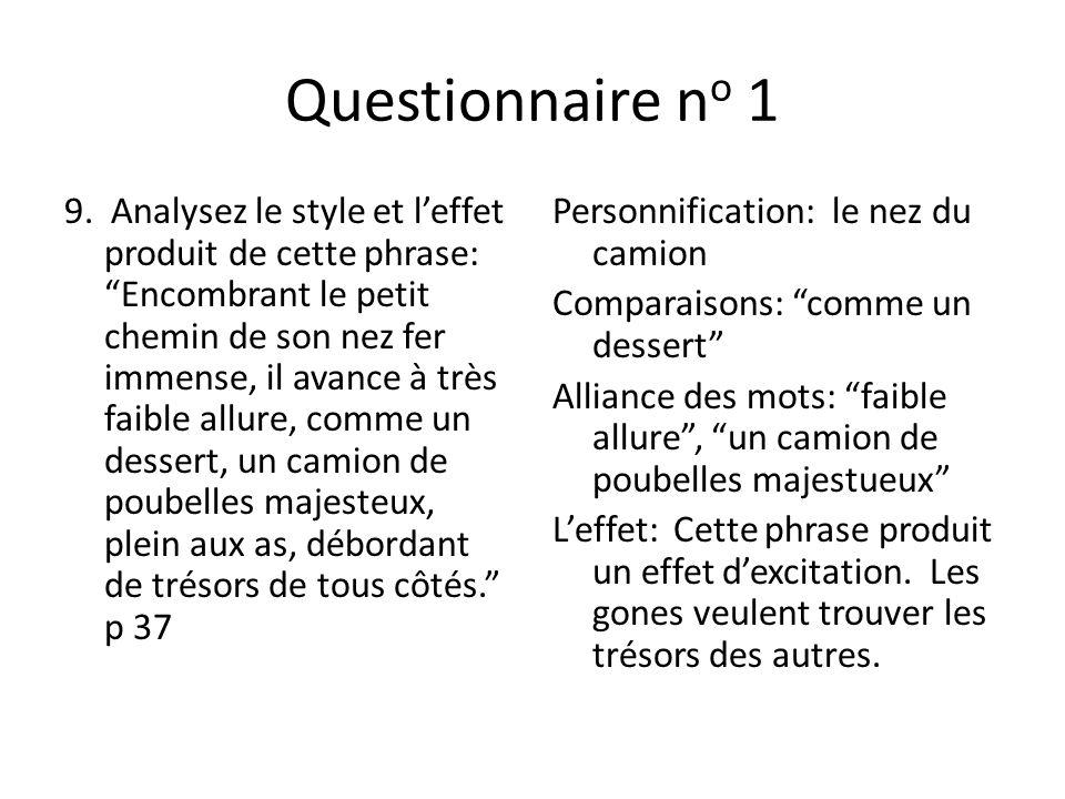 Questionnaire no 1