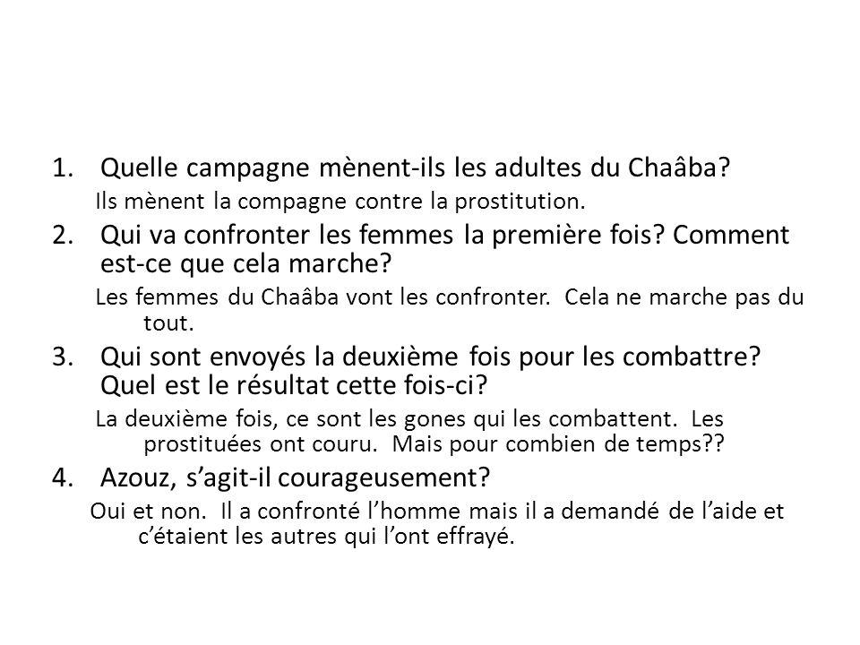 Quelle campagne mènent-ils les adultes du Chaâba