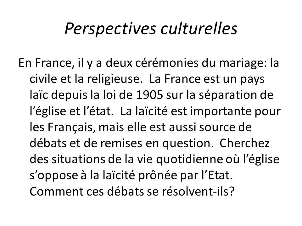 Perspectives culturelles