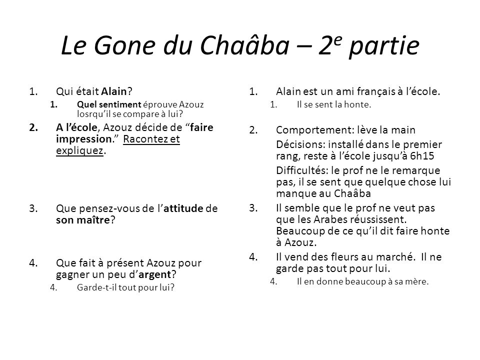 Le Gone du Chaâba – 2e partie