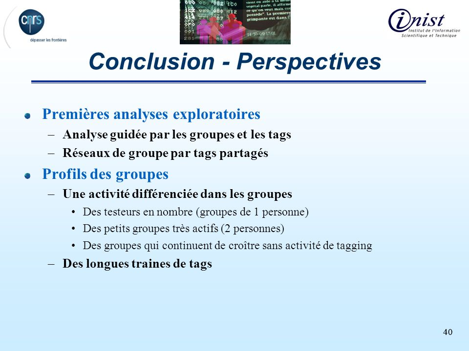 Conclusion - Perspectives