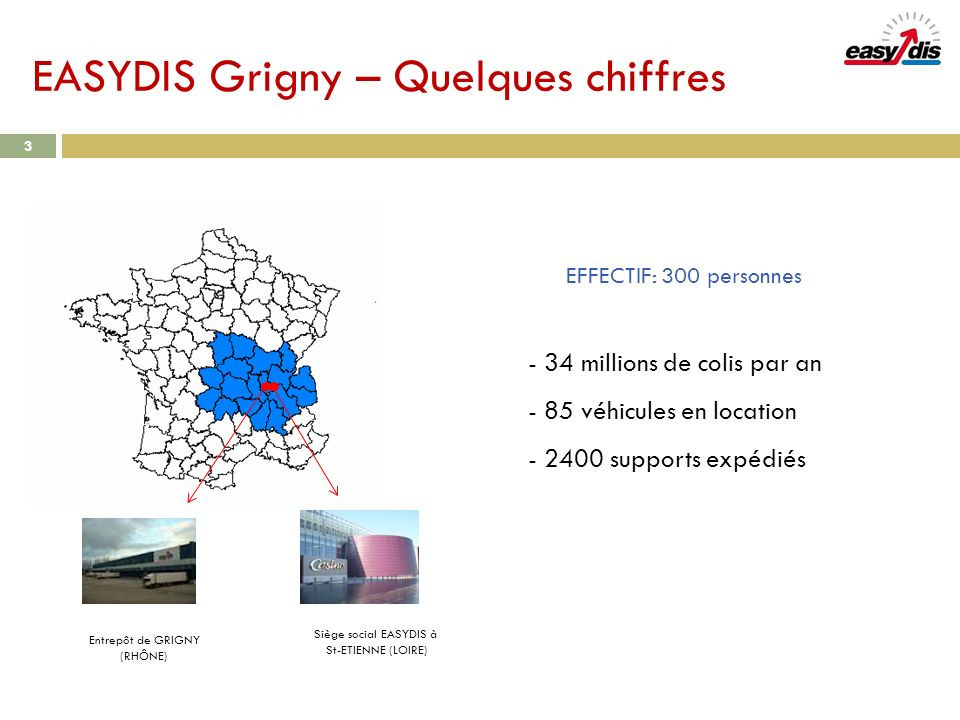EASYDIS Grigny – Quelques chiffres