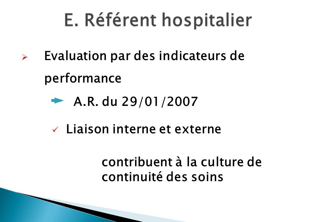 E. Référent hospitalier