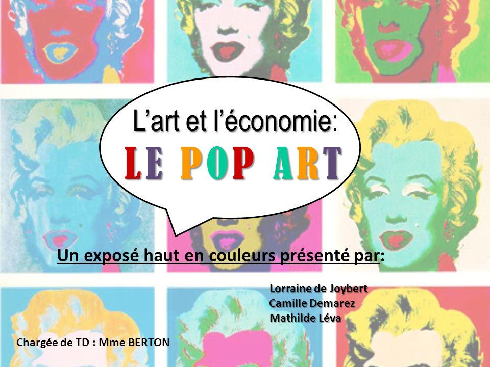 L'art et l'économie: LE POP ART