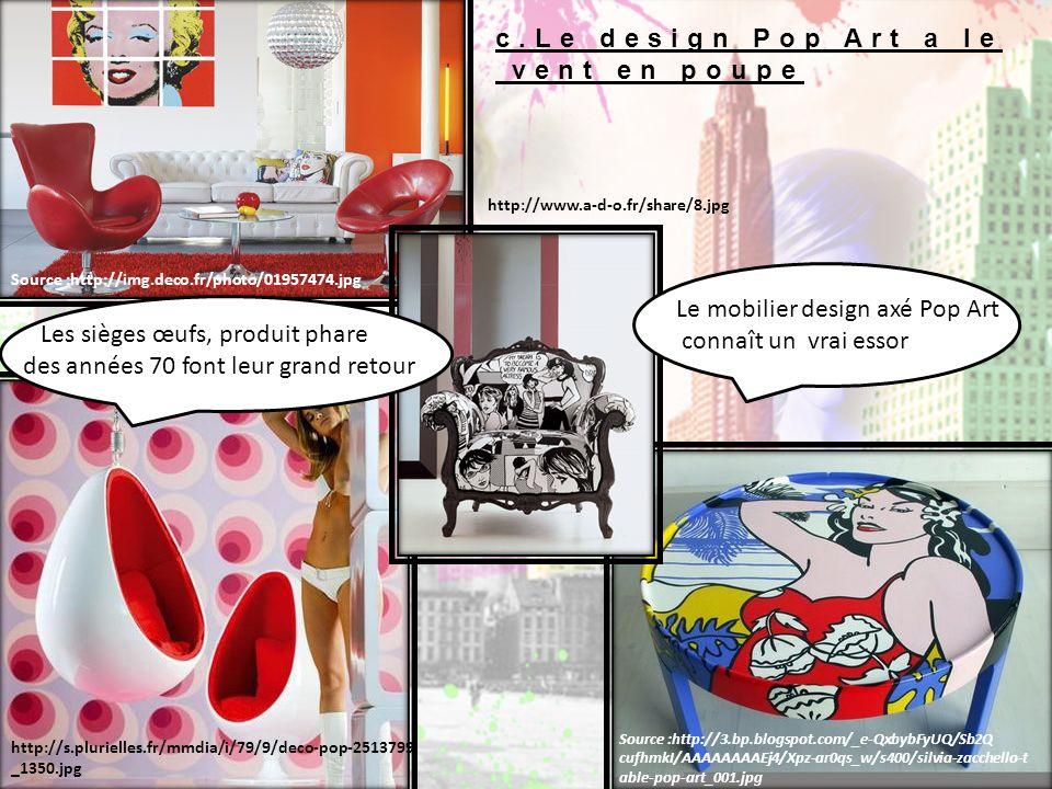 Le mobilier design axé Pop Art connaît un vrai essor
