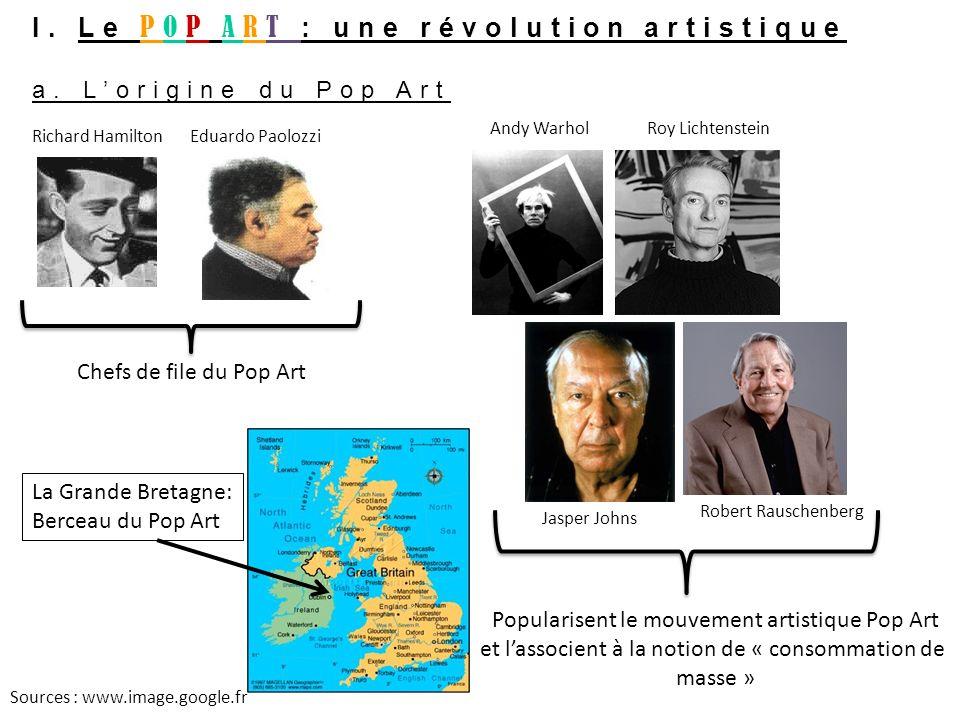 I. Le POP ART : une révolution artistique a. L'origine du Pop Art