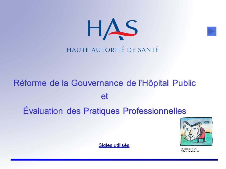 Réforme de la Gouvernance de l Hôpital Public et