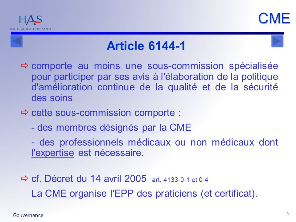 CME Article 6144-1.
