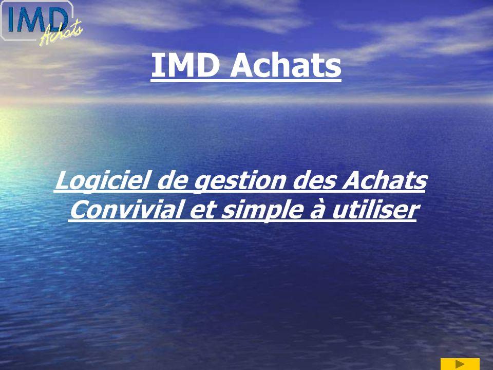 IMD Achats Logiciel de gestion des Achats