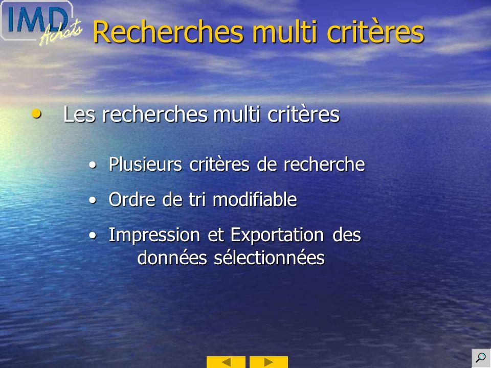 Recherches multi critères