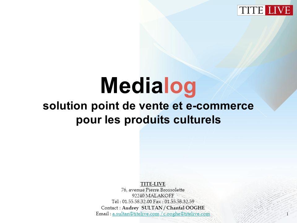 Medialog solution point de vente et e-commerce pour les produits culturels