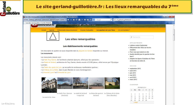 Le site gerland-guillotière.fr : Les lieux remarquables du 7ème