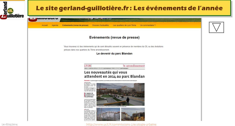 Le site gerland-guillotière.fr : Les événements de l'année