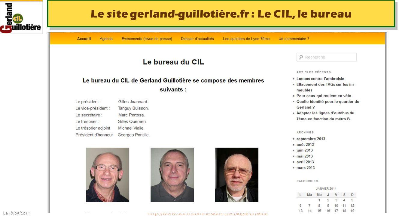 Le site gerland-guillotière.fr : Le CIL, le bureau