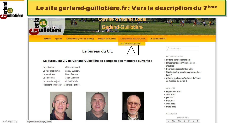 Le site gerland-guillotière.fr : Vers la description du 7ème