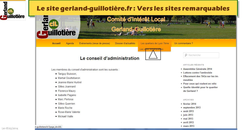Le site gerland-guillotière.fr : Vers les sites remarquables