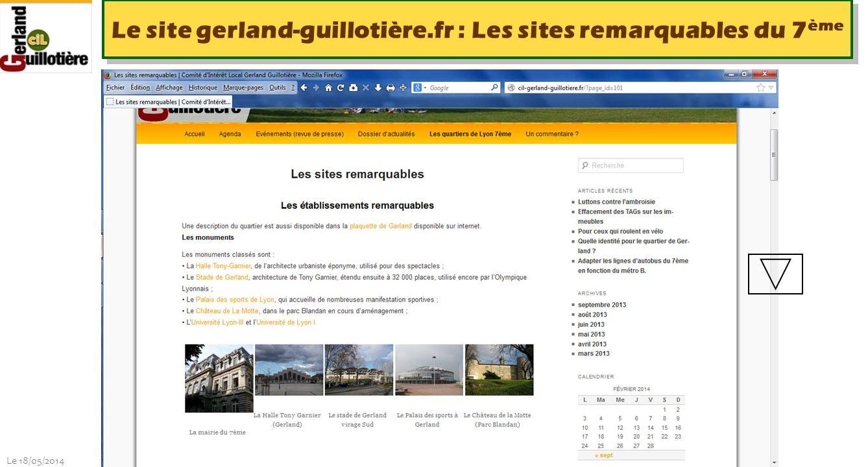 Le site gerland-guillotière.fr : Les sites remarquables du 7ème