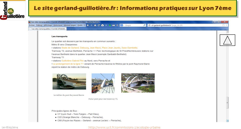 Le site gerland-guillotière.fr : Informations pratiques sur Lyon 7ème