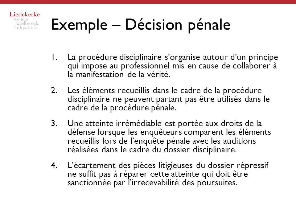 Exemple – Décision pénale