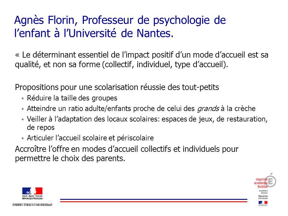 Agnès Florin, Professeur de psychologie de l'enfant à l'Université de Nantes.