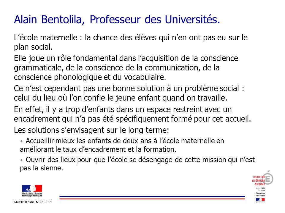Alain Bentolila, Professeur des Universités.