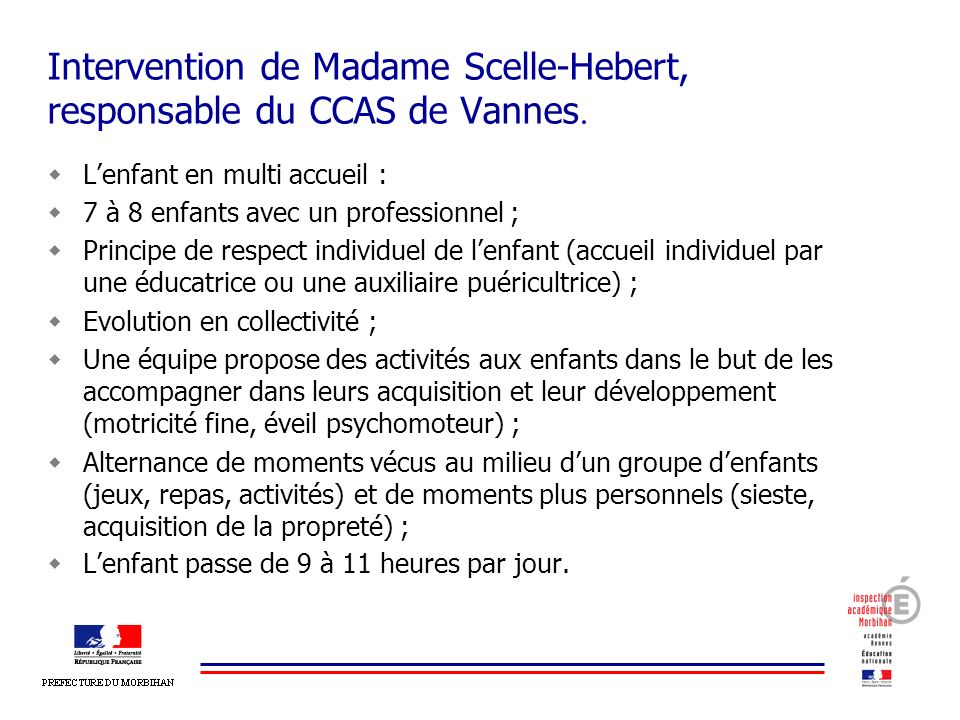 Intervention de Madame Scelle-Hebert, responsable du CCAS de Vannes.
