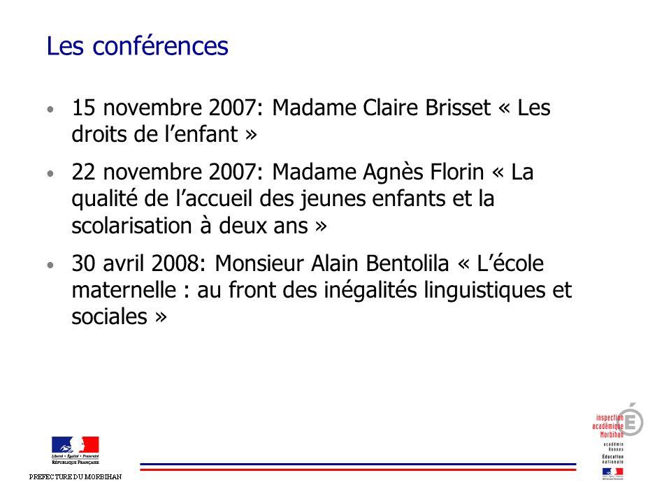 Les conférences 15 novembre 2007: Madame Claire Brisset « Les droits de l'enfant »