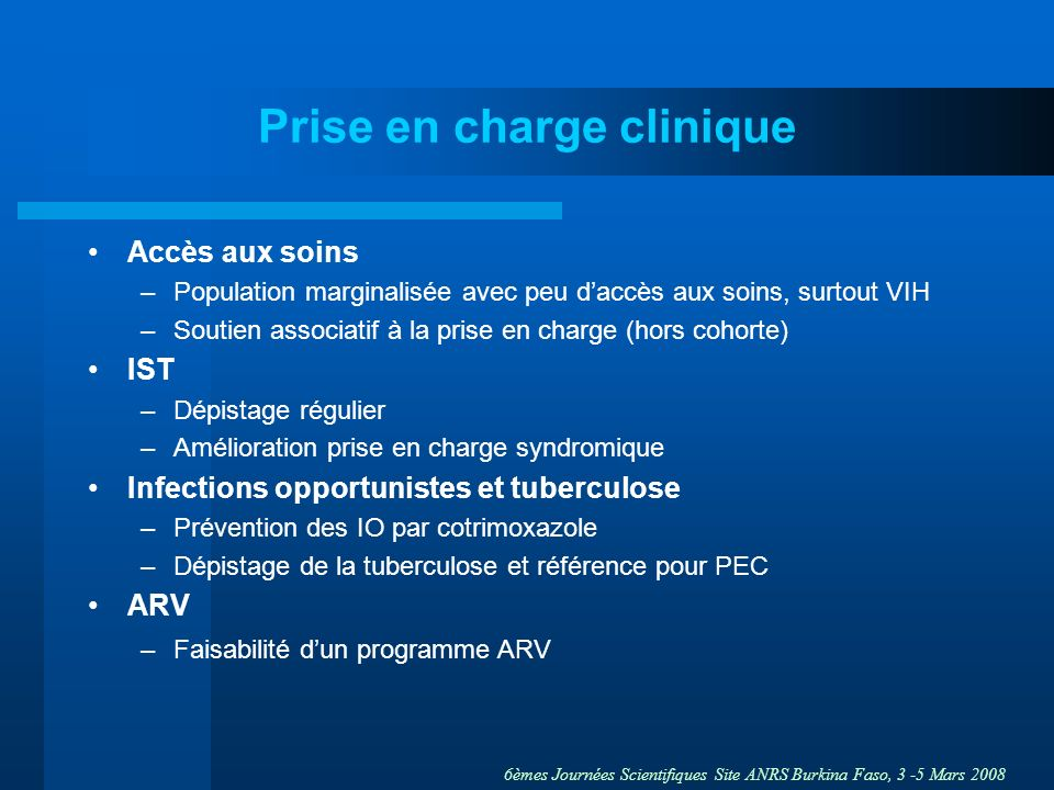 Prise en charge clinique
