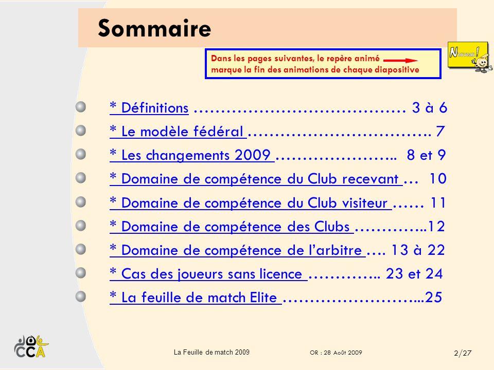 Sommaire * Définitions ………………………………… 3 à 6