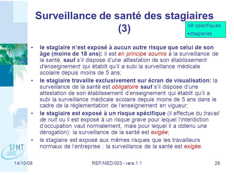 Surveillance de santé des stagiaires (3)