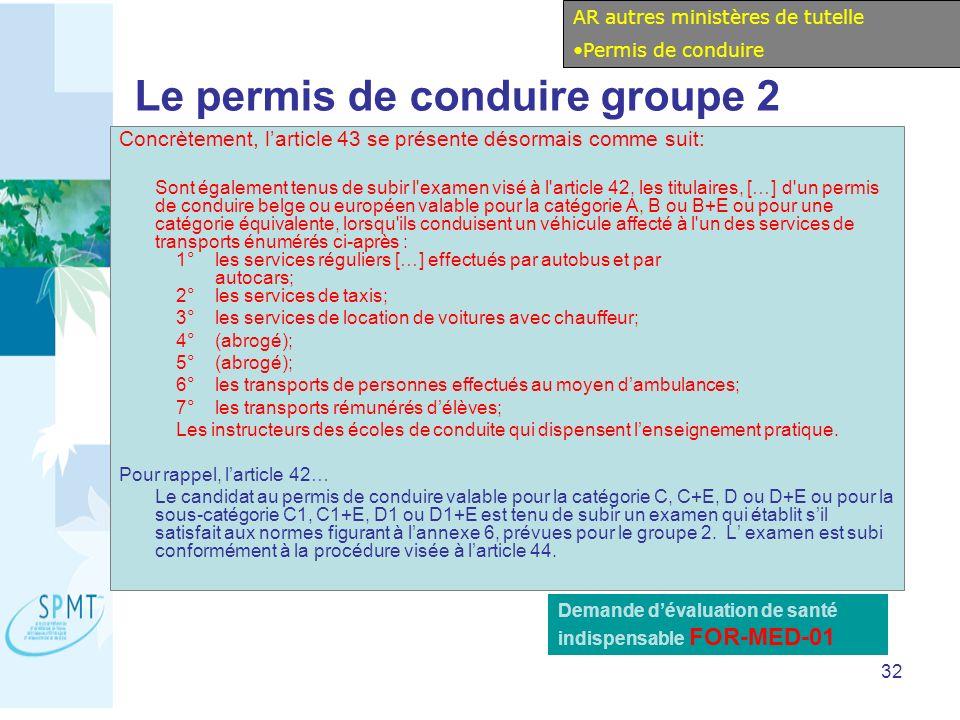Le permis de conduire groupe 2