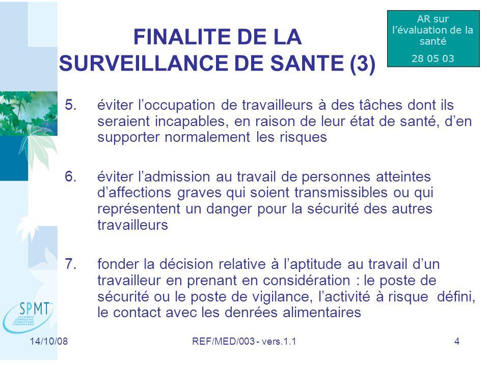 FINALITE DE LA SURVEILLANCE DE SANTE (3)