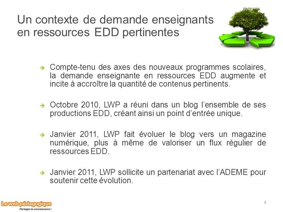 Un contexte de demande enseignants en ressources EDD pertinentes