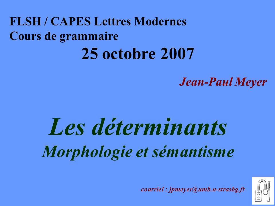 Morphologie et sémantisme