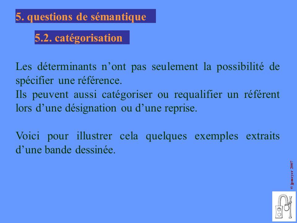5. questions de sémantique