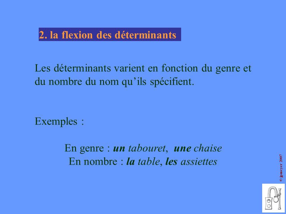 2. la flexion des déterminants