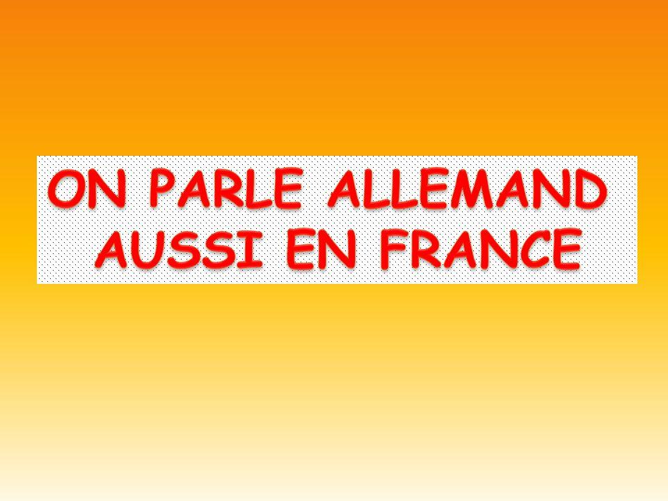 ON PARLE ALLEMAND AUSSI EN FRANCE