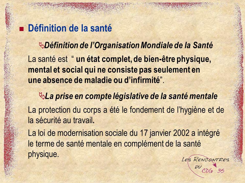 Définition de la santé Définition de l'Organisation Mondiale de la Santé.