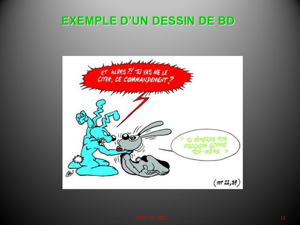 EXEMPLE D'UN DESSIN DE BD