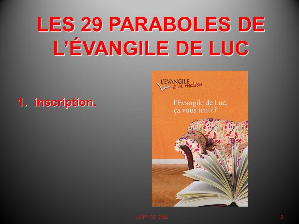 LES 29 PARABOLES DE L'ÉVANGILE DE LUC