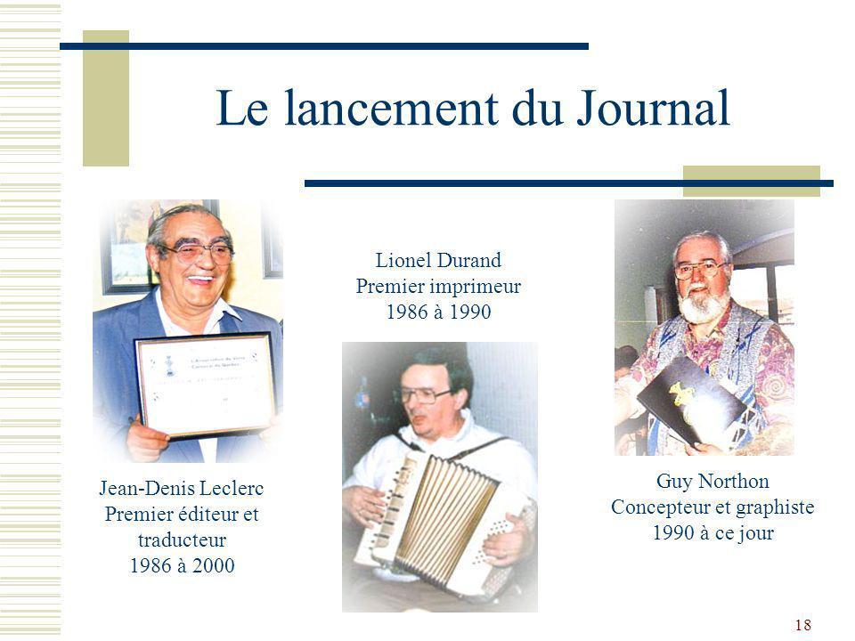 Le lancement du Journal