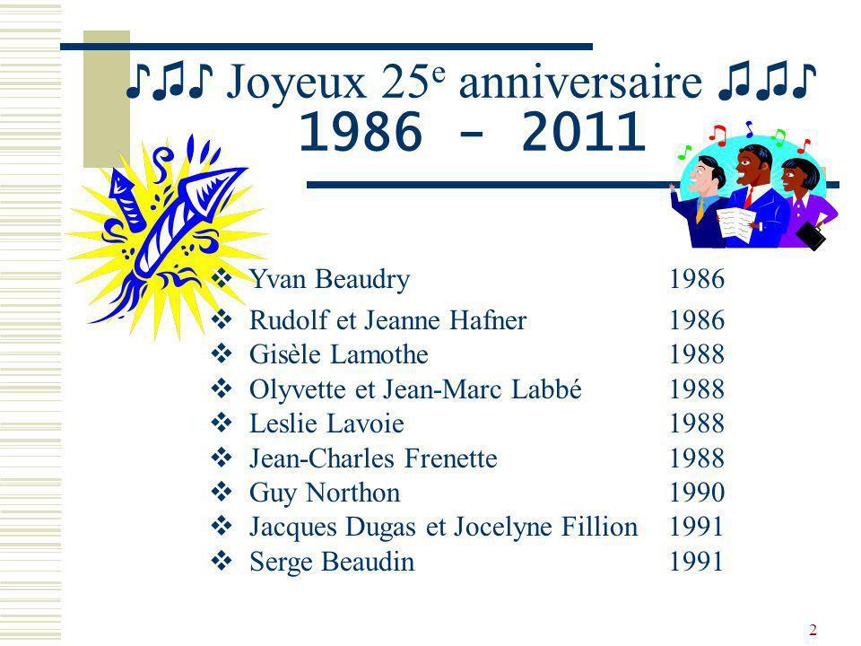 ♪♫♪ Joyeux 25e anniversaire ♫♫♪ 1986 - 2011