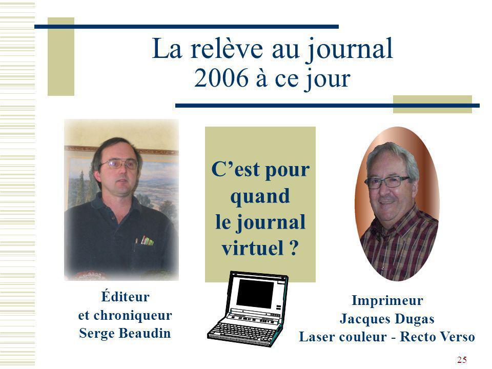 La relève au journal 2006 à ce jour