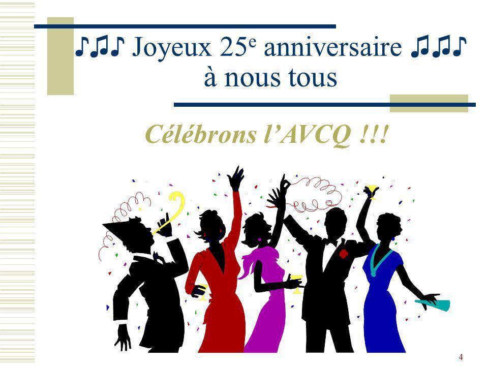 ♪♫♪ Joyeux 25e anniversaire ♫♫♪ à nous tous